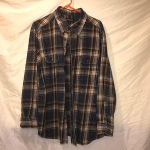 Stanley brand men's plaid shirt